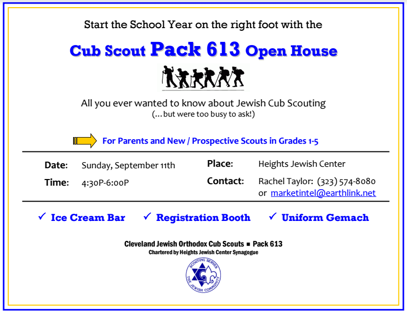 HJCS is honored to be the new home of Cub Scout Pack 613.